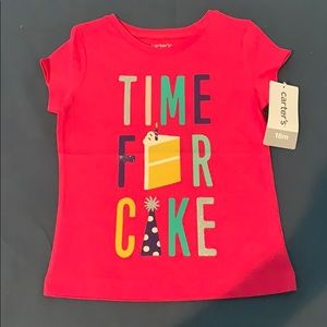 Carter's First Birthday T-shirt Girls Size 18M